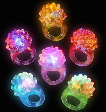 Light up Ring - Display of 12