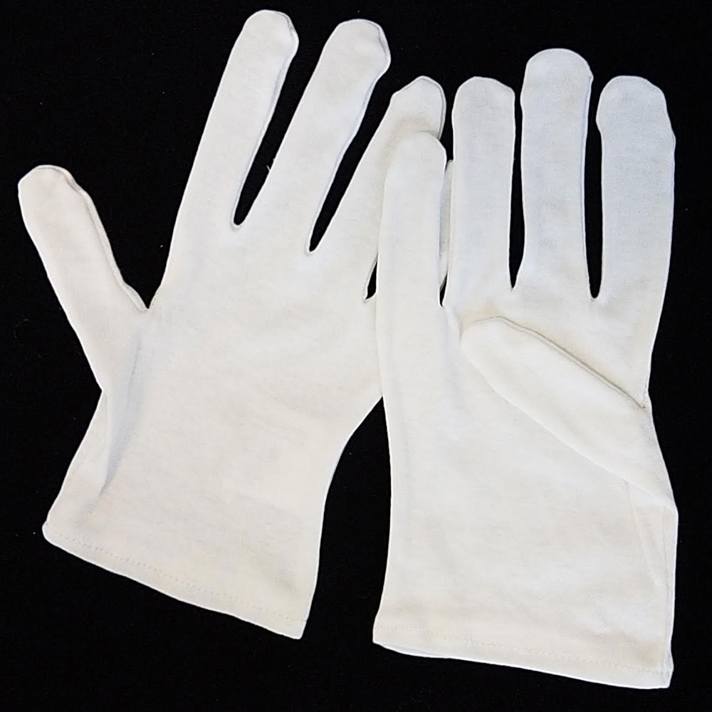 Minstrel White Cotton Gloves