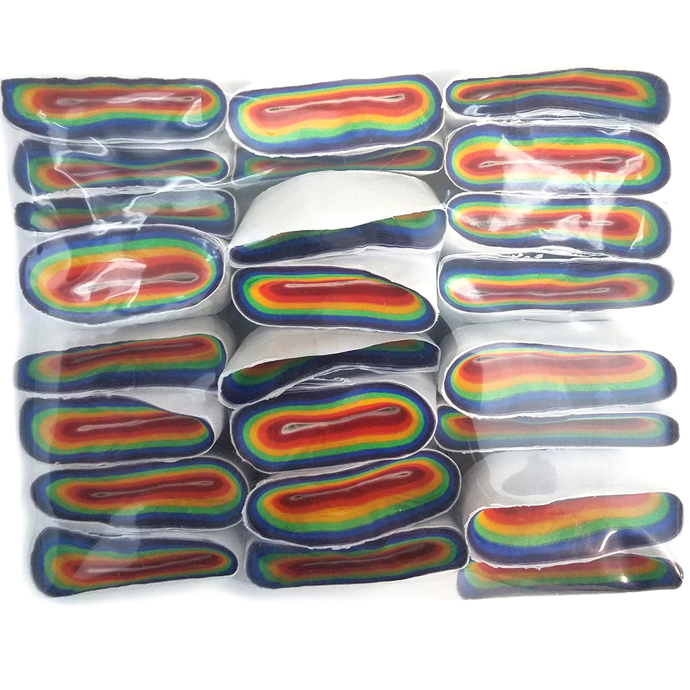 Mouth Coils - Jumbo Cresey - 46 ft - Rainbow