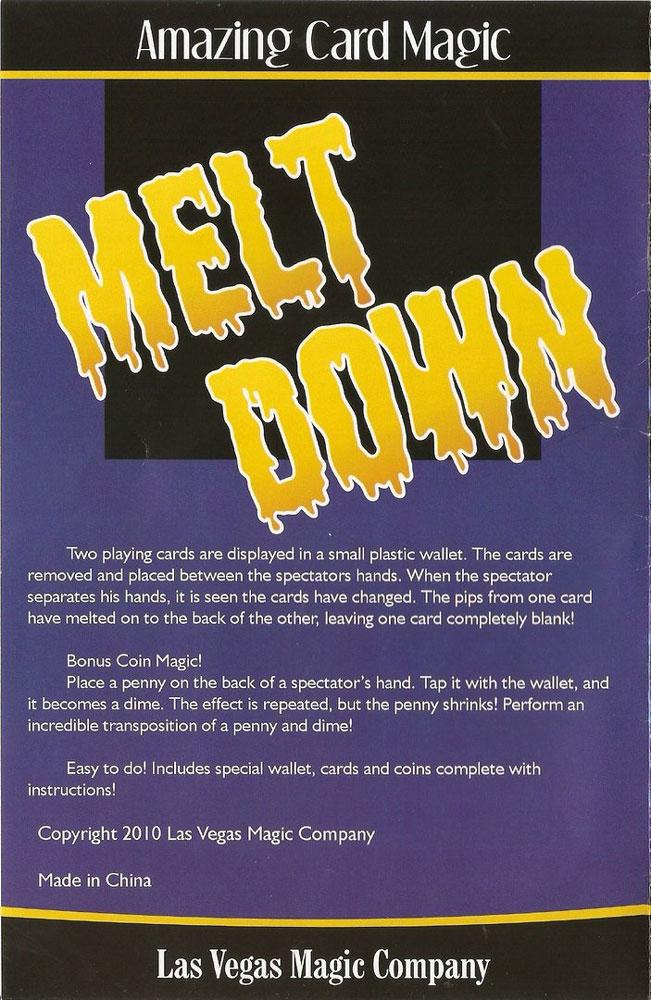 Melt Down Amazing Card Magic D Robbins Co