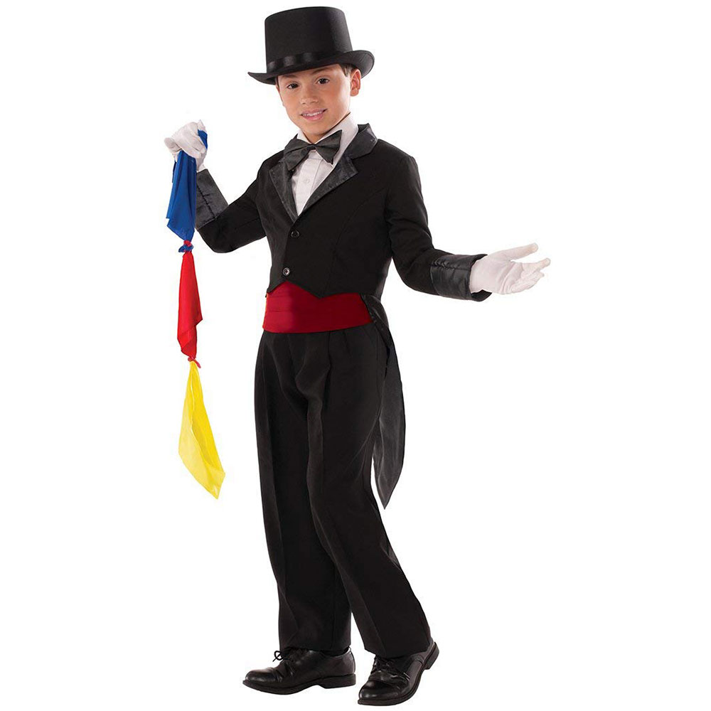 Magician Tailcoat and Scarves - Child Large