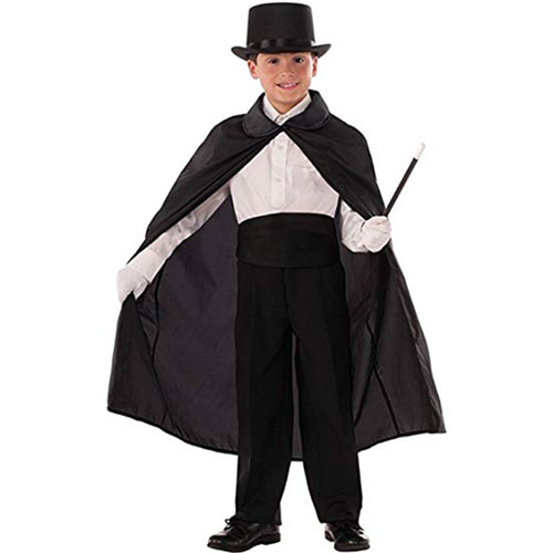 "Magician Black 36"" Cape - Child"