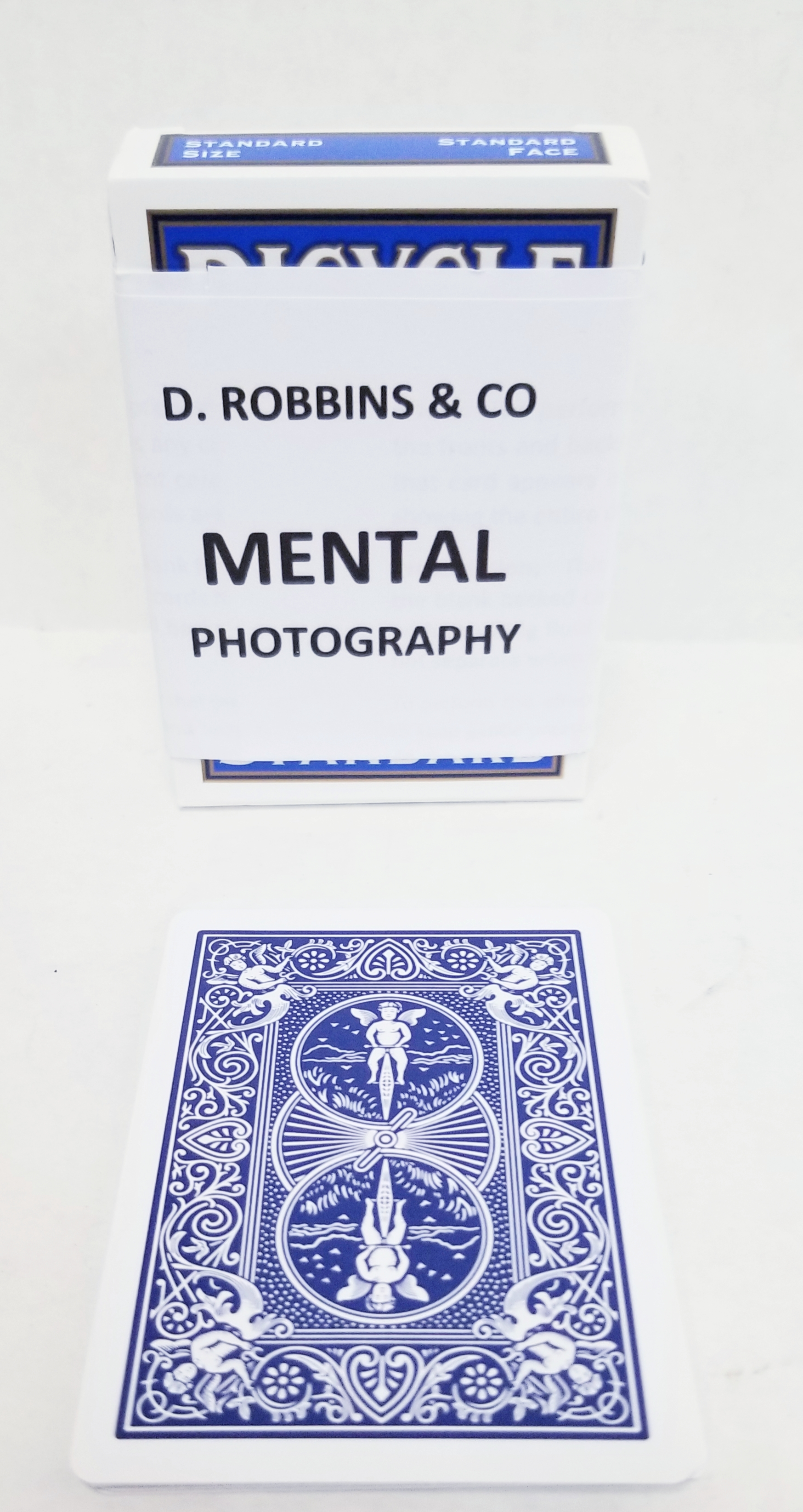 Mental Photo Bicycle Poker Deck (E-Z) - Improved - Blue backs