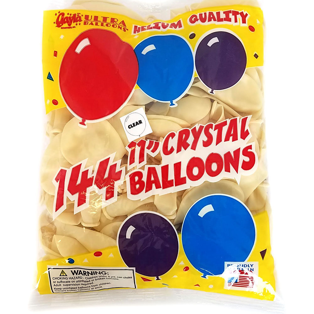 Needle through Balloons - Pack of 144 Clear Balloons