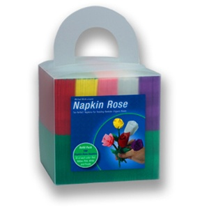 Napkin Rose CUBE - 150 napkins, 30 each of 5 colors