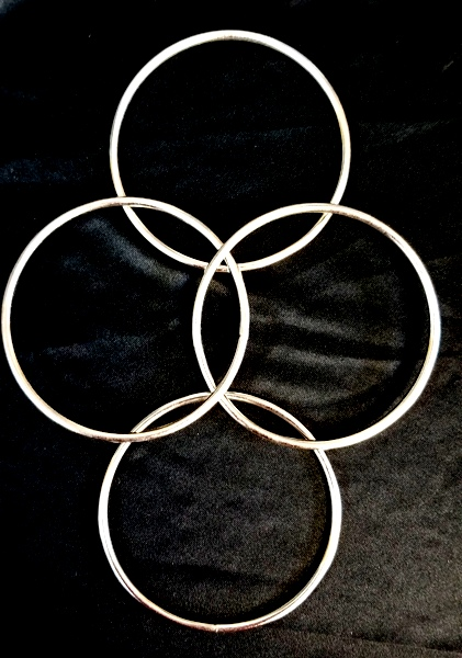 "Nuclear Fusion 4"" Linking Rings Set of 4"