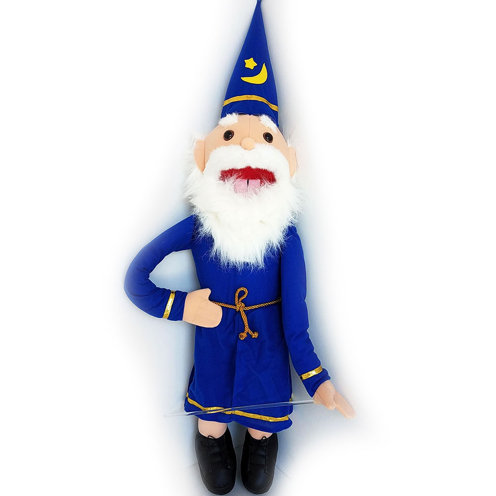 "Puppet Wizard 28"" Blue"
