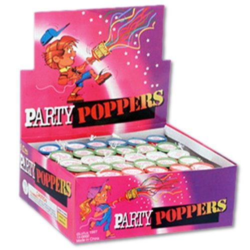 Party Poppers - Display of 72