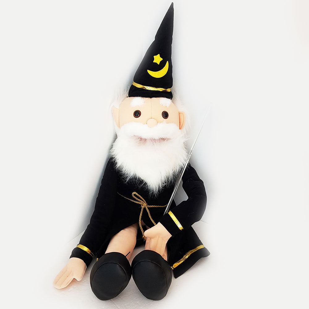 "Puppet Wizard 28"" Black"