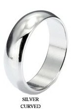 Magnetic Ring (PK) - Silver - Curved