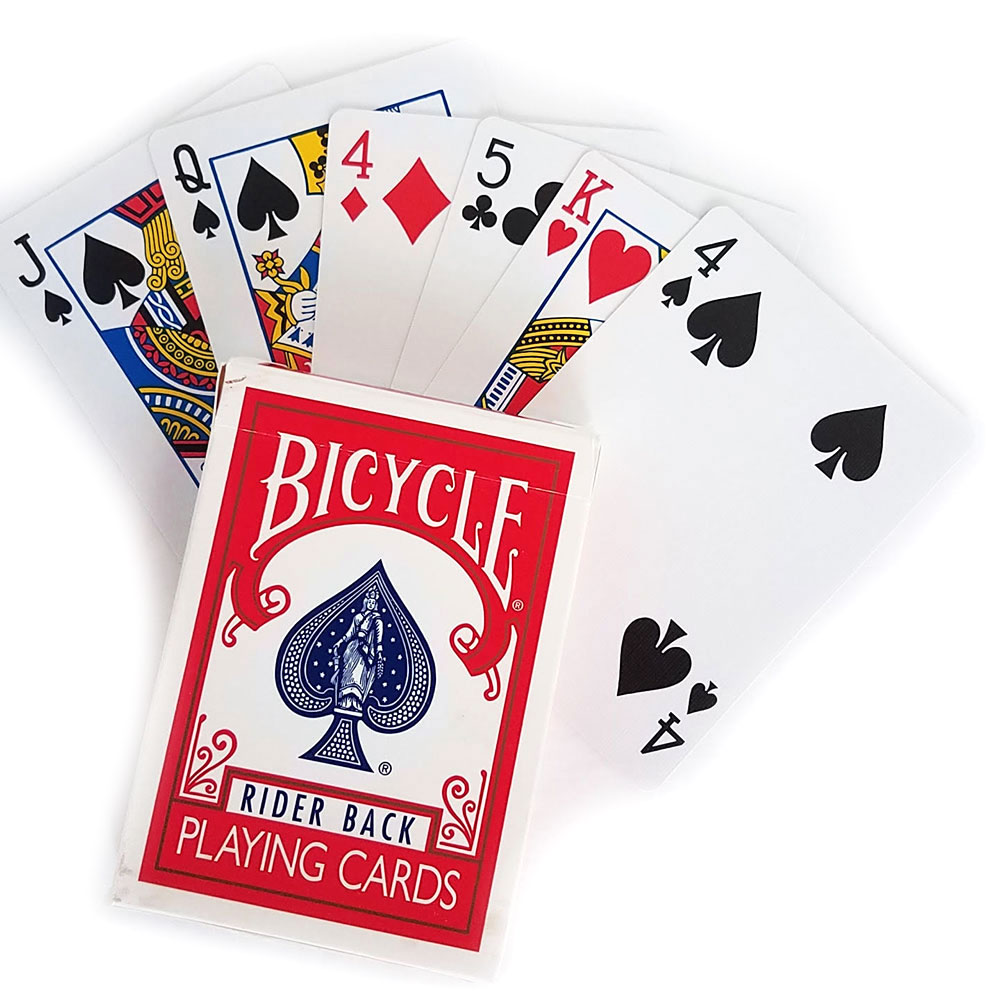 Svengali Deck - Bicycle Standard Poker (E-Z) - Red