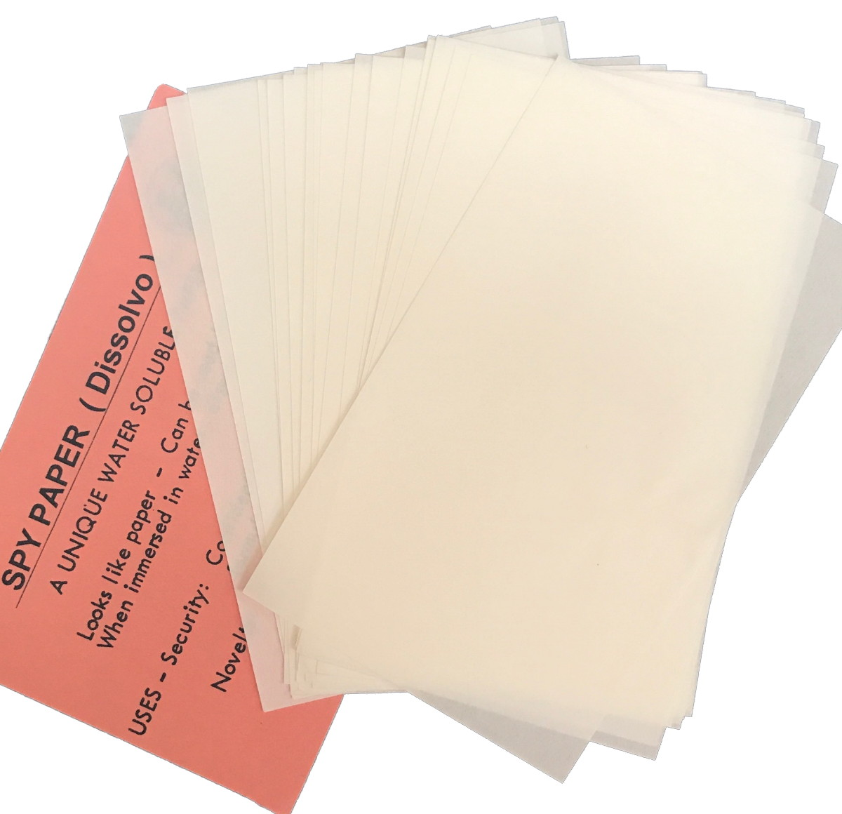 Spy Paper Dissolvo - Bulk Pack of 100 pcs