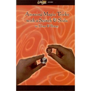 Amazing Magic Tricks w/ a Scotch & Soda or Dime & Penny Book