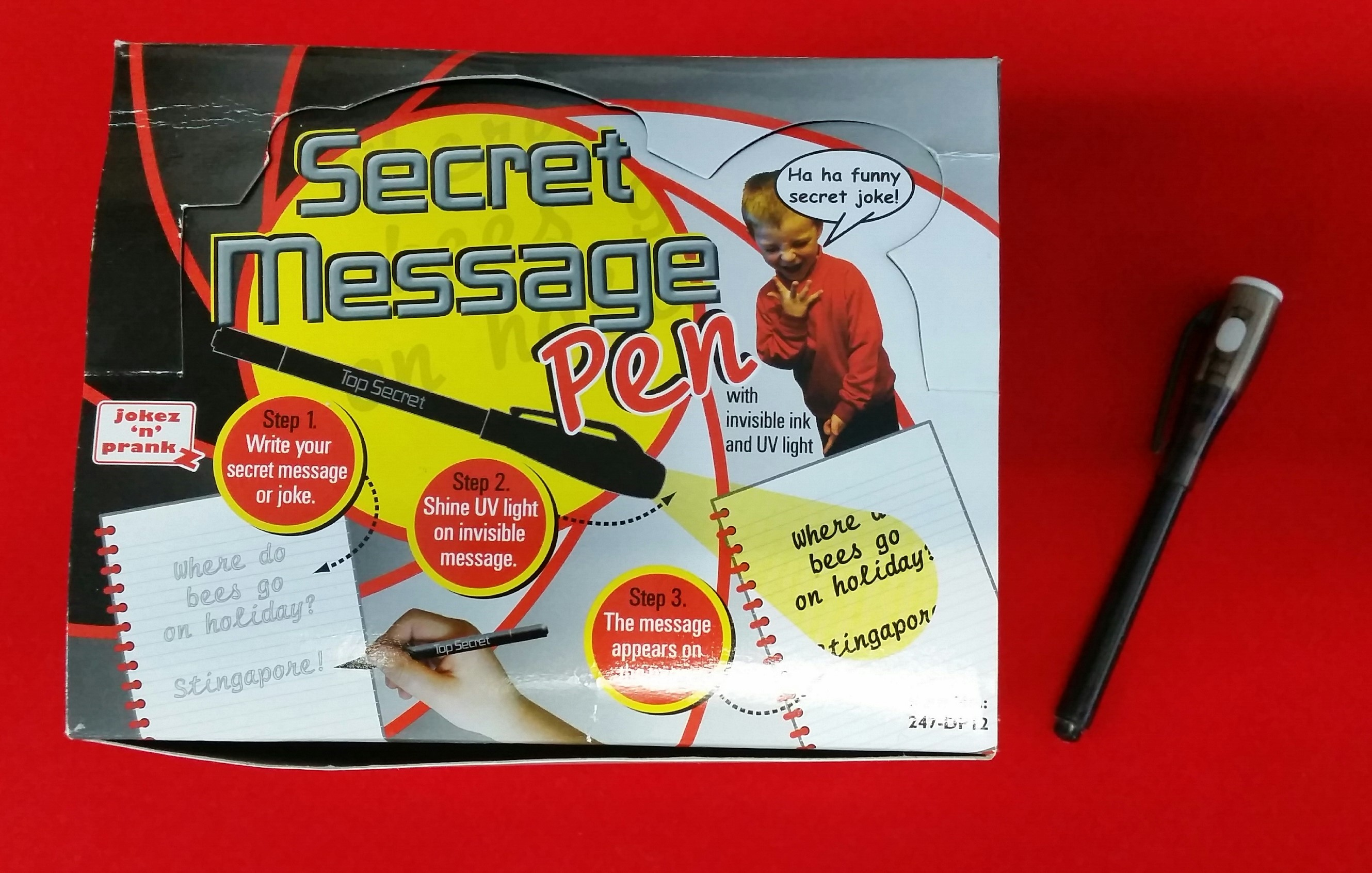 Secret Message Pen - Display of 12