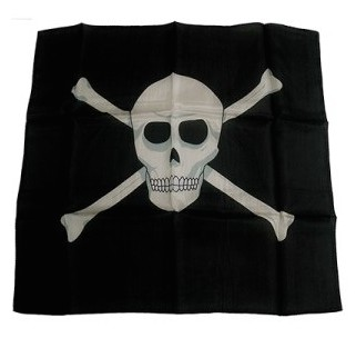 Skull and Crossbones Production Silk 18""