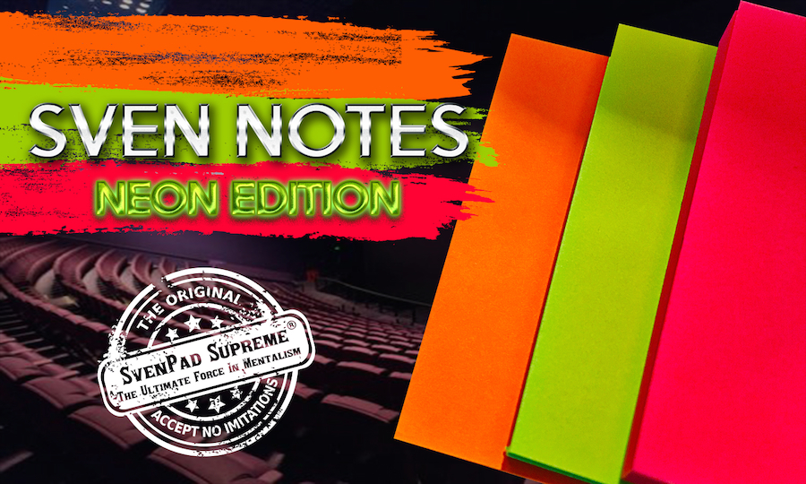Sven Notes - NEON Edition (3 Post-It style SvenPads®)