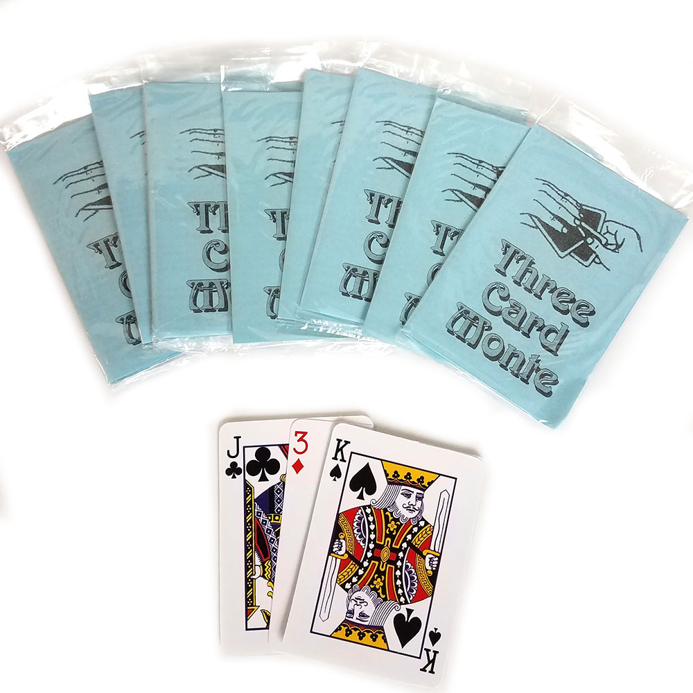 3 Card Monte with Blank Key Card - Bulk of 100