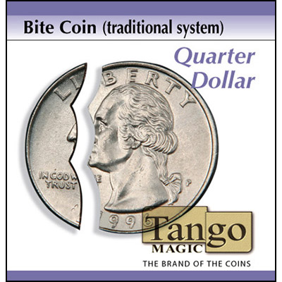 Bite out Coin - Quarter - Traditional System (Tango)