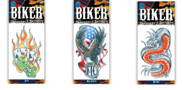 Tattoo - Biker - Snake, Aces, Mc Eagle