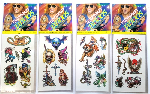 Temporary Tattoos - Large - Pack of 12