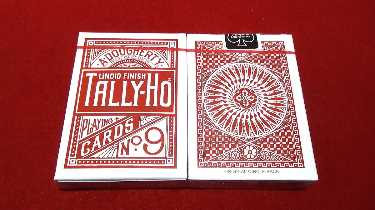 Deck Tailor End Stripper Deck - Tally-Ho Circle Red - Premium Grade / Fine Cut