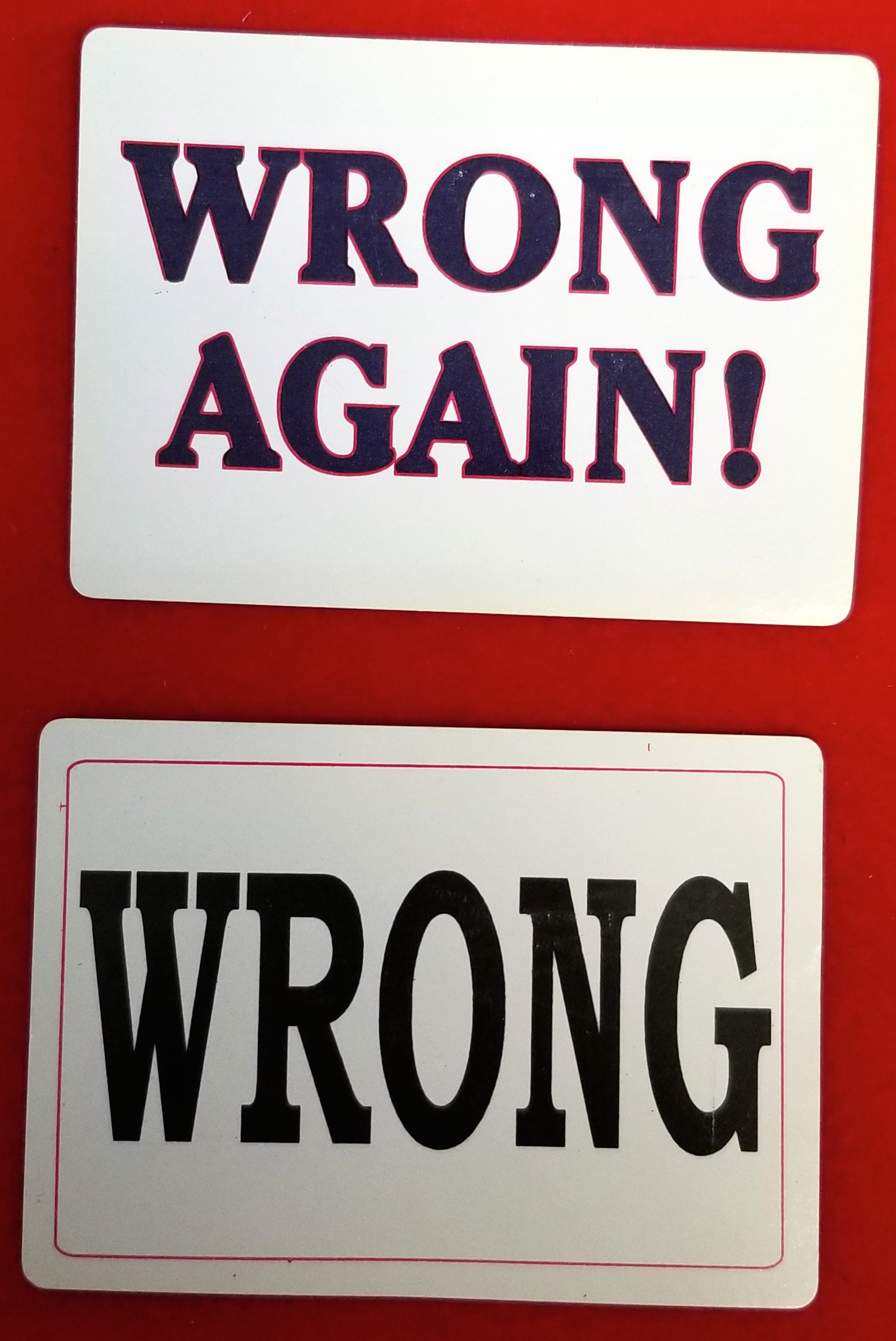 Playing Cards - Wrong and Wrong Again - Imprints - Pack of 12