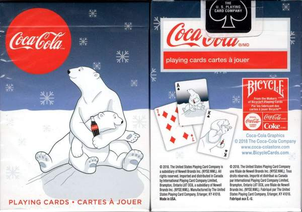 Bicycle Coca-Cola Polar Bears Dark Blue Playing Cards Deck