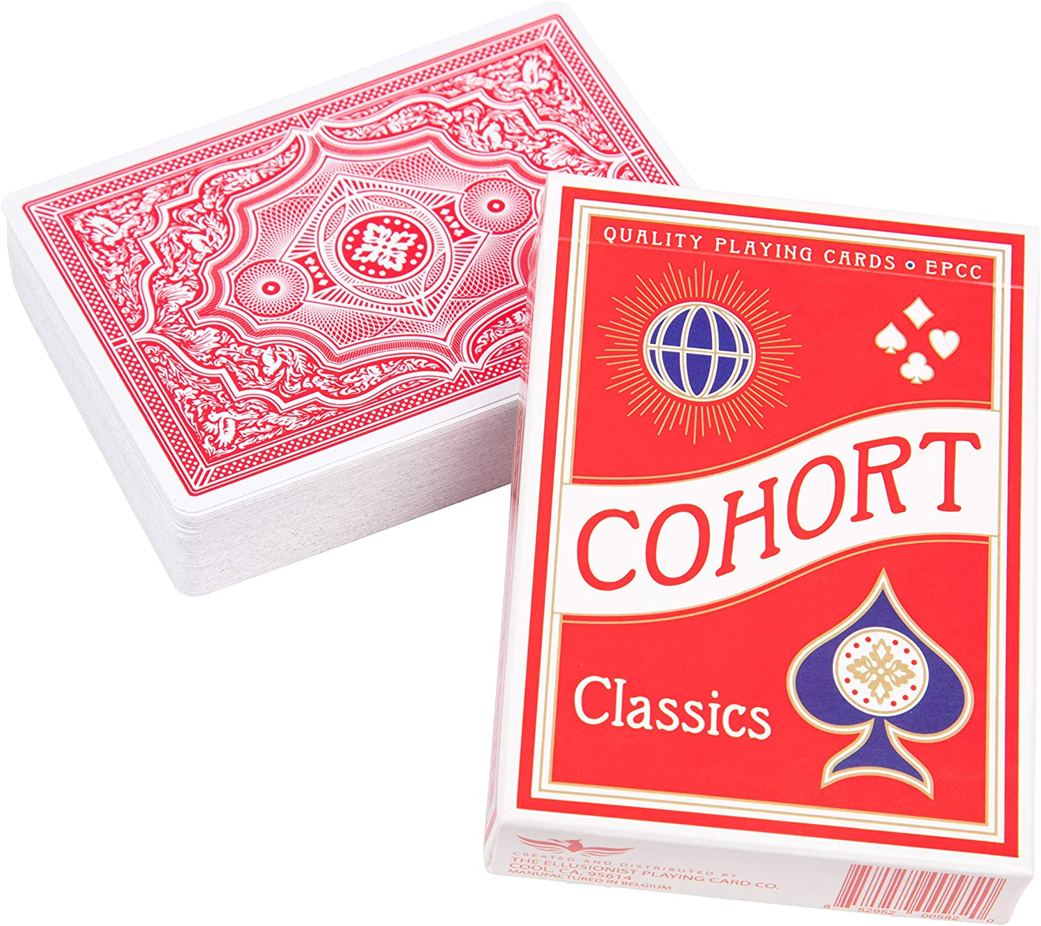 Red Cohort Vintage Casino Playing Cards - Marked