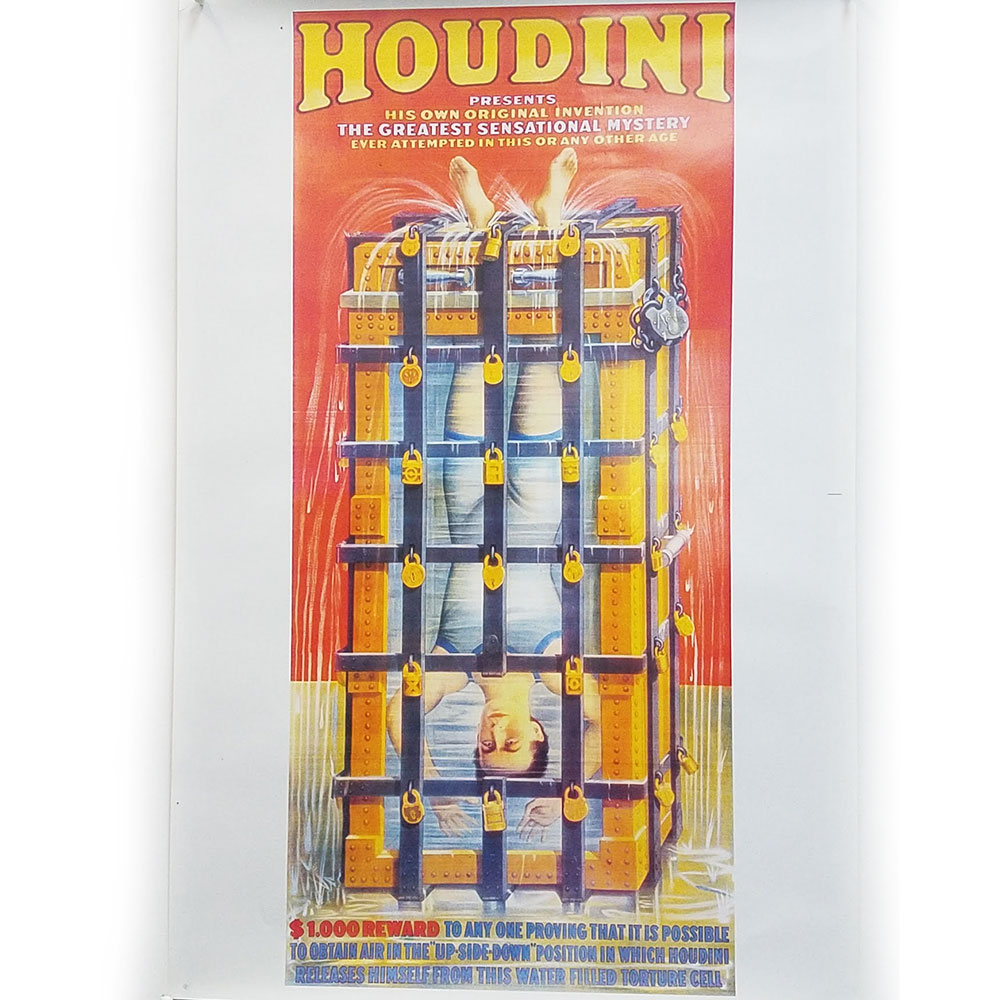 Houdini Water Torture Cell Poster