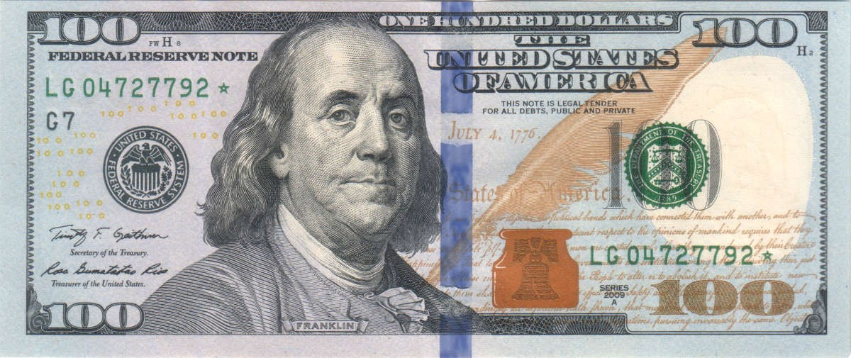 Flash Dollar Bills - US $100 - Pack of 10 - Full Bills