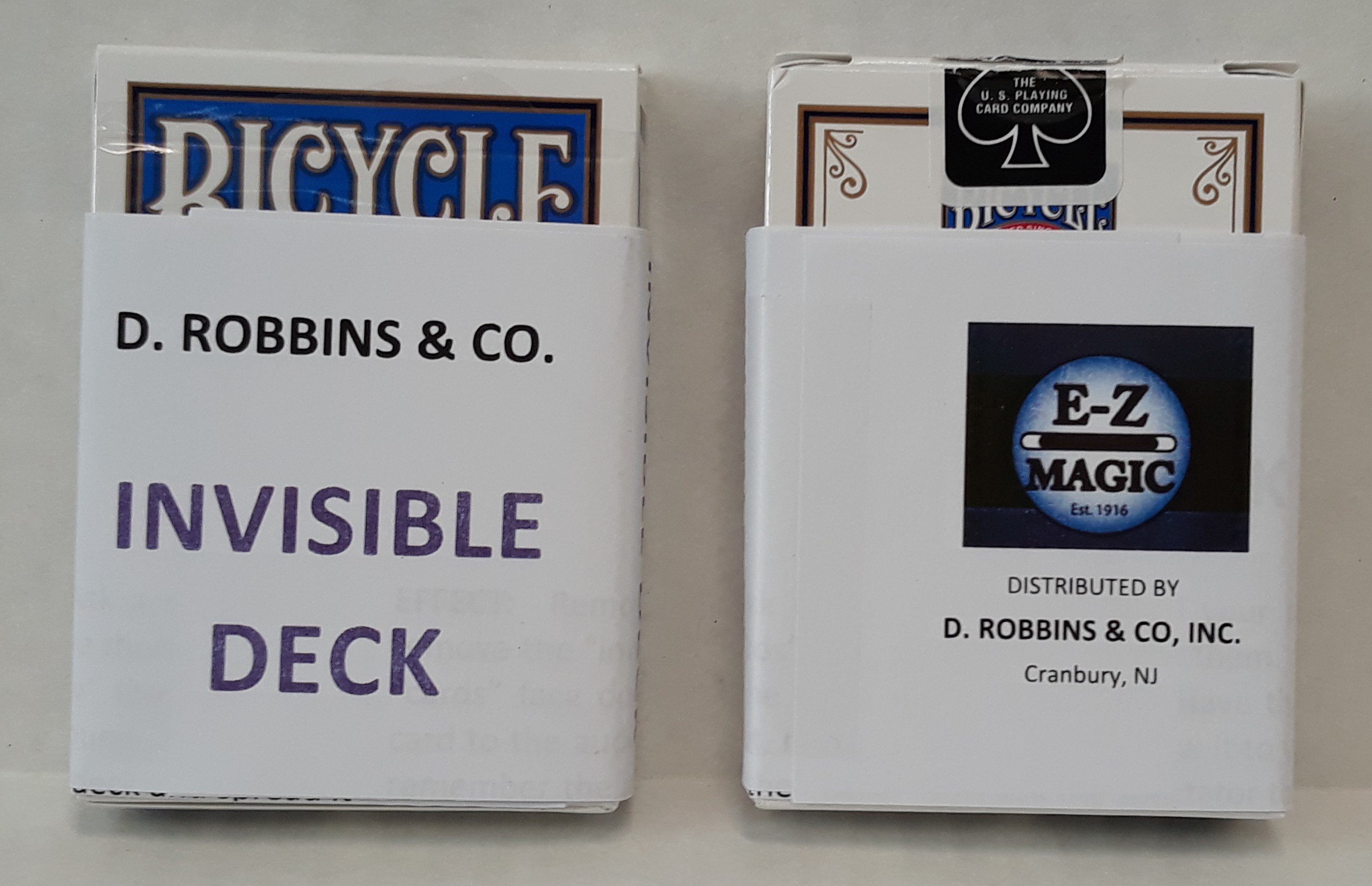 Invisible Bicycle Poker Deck (E-Z) - Improved - Blue backs