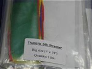 "Thumb Tip Silk Streamer - LARGE 1"" x 73"" - Magic Trick"