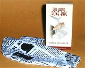 Classic One Hand Dove Bag -Newspaper Silk- Magic Trick
