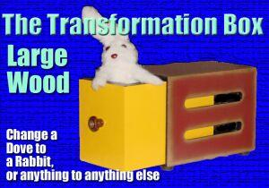 Transformation Box -LARGE Wood- Animal Magic Trick
