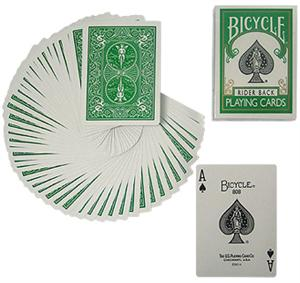 Bicycle Poker Deck GREEN Back Gaff / Cards Magic T