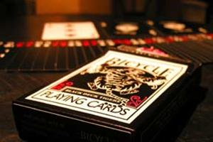 Black Tiger Deck - Red Pips- Gaff / Magic Trick RE