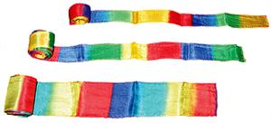 "Silk Streamer - Multicolor 4"" x 30'- Stage Magic Trick"