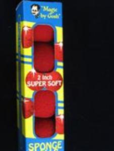 Sponge Balls:Super Soft Goshman - RED Only 2""