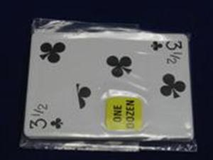 Playing Cards -Poker Gaff Card- 3 1/2 CLUBS Magic