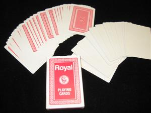 UTILITY DECKS - Royal Blank Face - Card Magic Trick