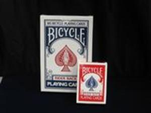 Jumbo Bicycle Cards Gaff - 52-on-1 RED - Magic Trick
