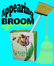 APPEARING BROOM - 4 Ft - Close Up / Street / Stage / Illusion Magic Trick