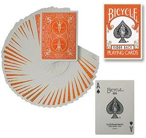 Bicycle Poker Deck - ORANGE Back Gaff / Cards Magi