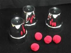 Magic Chrome Cups & Ball -#5745C- Close Up Magic Trick