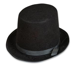 Top Hat Felt JUNIOR One Size - Magician Accessory Trick