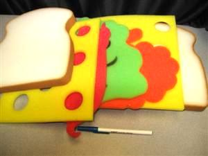 CLOWN FOAM CLUB SANDWICH - Joke / Prank / Gag Gift
