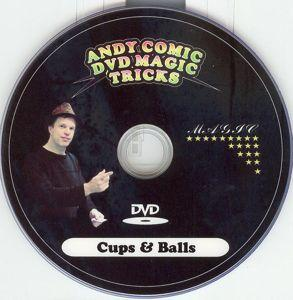 ANDY COMIC PROMO DVD - Cups and Balls - Close Up / Stage / Street / DVD Magic Trick