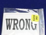 Playing Cards - Wrong Wrong Again - Bulk 100 Impri