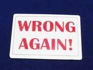 Playing Cards - Wrong Again Imprints - 100 Per