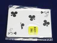 Playing Cards - 3 1/2 Clubs Imprints - Bulk 100